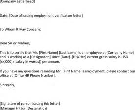 Us Visa Letter Of Employment Employment Verification Letter For Us Visa For Free Tidyform