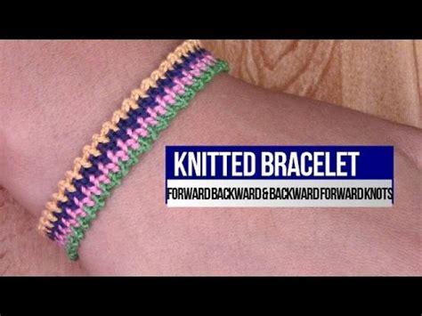 friendship bracelet knitted bracelet     knots youtube