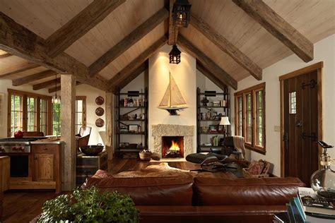 whitewashed ceiling beams living room rustic  exposed