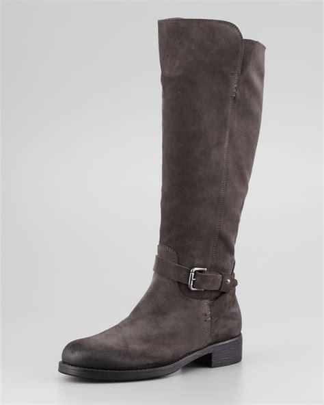 alberto fermani aracelli suede knee boot gray in gray