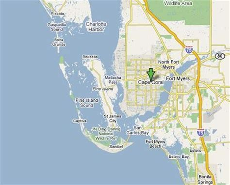 map of cape coral fl cape coral waterfront freshwater vs saltwater boating