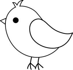 Printable Bird Template by Early Play Templates Printable Free Simple Bird Templates