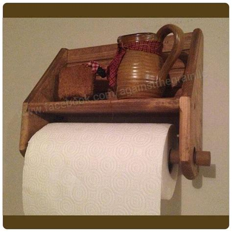 How To Make A Wooden Paper Towel Holder - 17 best ideas about paper towel holders on