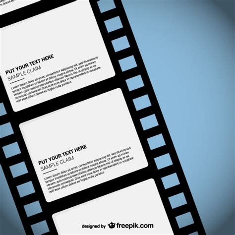film strip template vector free download