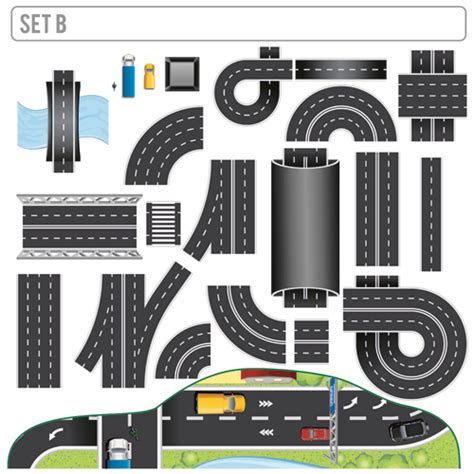 creative road design elements vector creative road design elements vector 02 vector traffic