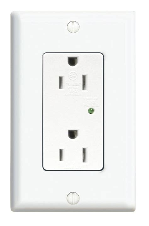 leviton receptacle leviton decora receptacle surge suppressor white the home depot canada