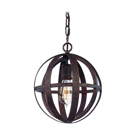 small orb pendant light in weathered iron finish f2511wi