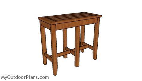Bar Stool Bench Diy by Bar Stool Bench Plans Myoutdoorplans Free Woodworking