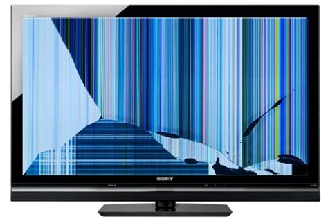 how to replace a cracked lcd panel on a sony bravia