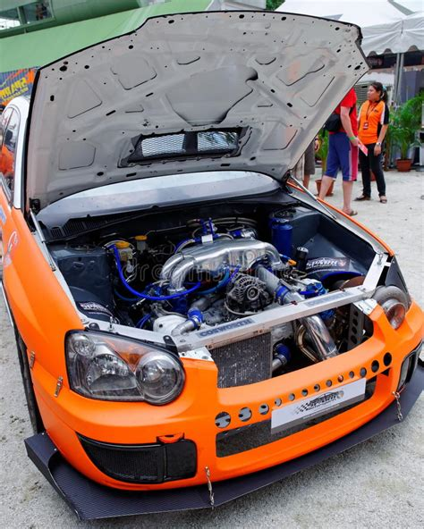 subaru wrx drift car subaru wrx drift car at formula drift 2010 editorial