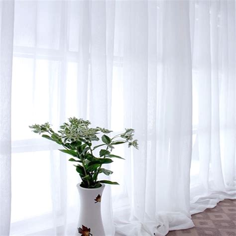 washing voile curtains 1pc sheer curtain vogue voile window curtains white color