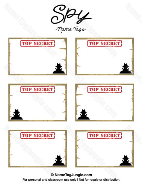 Detective Identification Card Template For by Free Printable Name Tags The Template Can Also Be