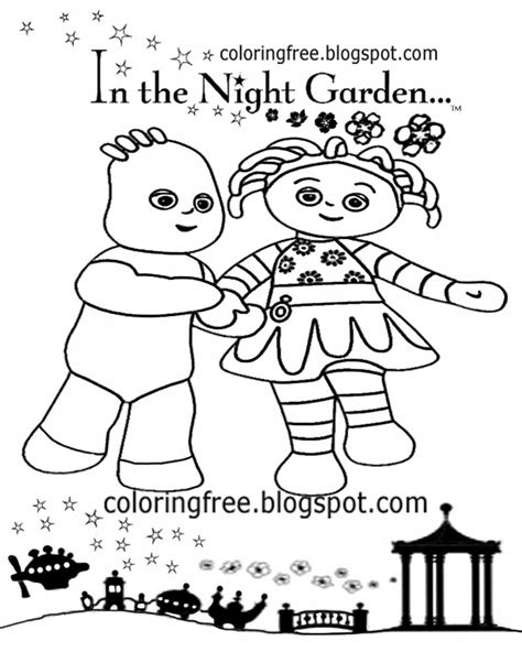 coloring pages in the night garden in the night garden free colouring pages