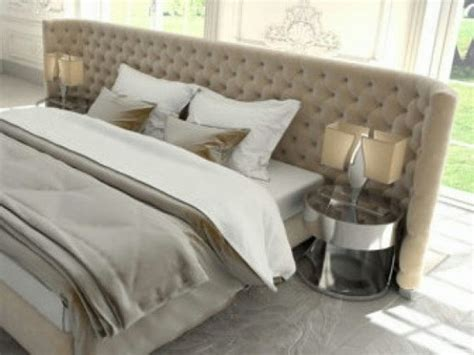 Items Similar To Beige Diamond Tufted Headboard Suede Wrap Around Bed Frame