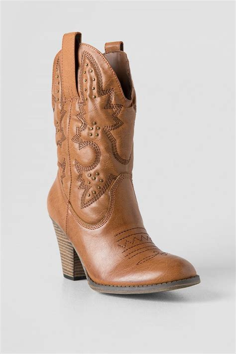 cognac larue heeled cowboy boot boots and booties