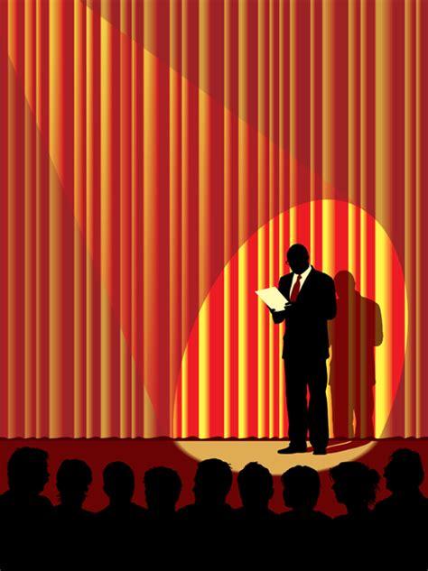 vector illustration man  stage  shutterstock blog