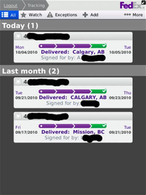 fedex mobile review fedex mobile app for blackberry crackberry