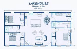 Simple Cabin Floor Plans 2 Bedroom House Simple Plan David S Ready Built Homes