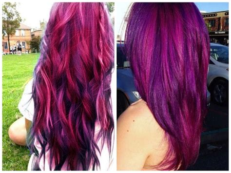 colors that look good with purple light brown hair with red purple highlights women medium