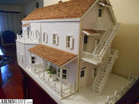 Handmade Wooden Doll Houses For Sale - armslist for sale large handmade dollhouse