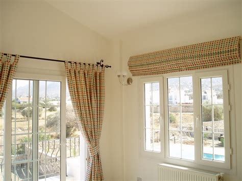 curtains with matching roman blinds roman