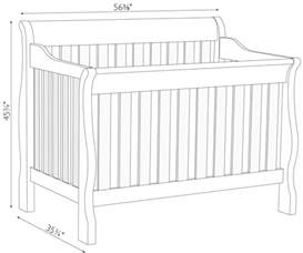 What Is The Size Of A Crib Mattress Sleigh Crib Dimensions Amish Traditions Wv