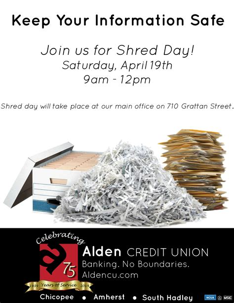 Forum Credit Union Shred Day 2014 shred day alden credit union