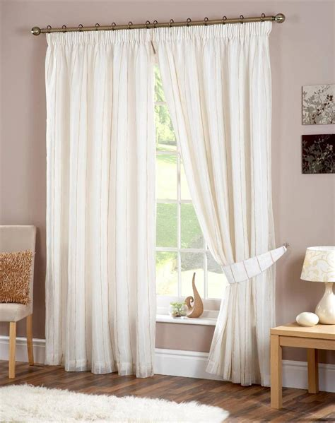 Gold And White Striped Curtains Fusion Luxury Ivory Gold Striped Fully Lined Pencil Pleat Curtains Many Sizes Ebay