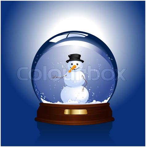 snow globe with snowman inside stock photo colourbox