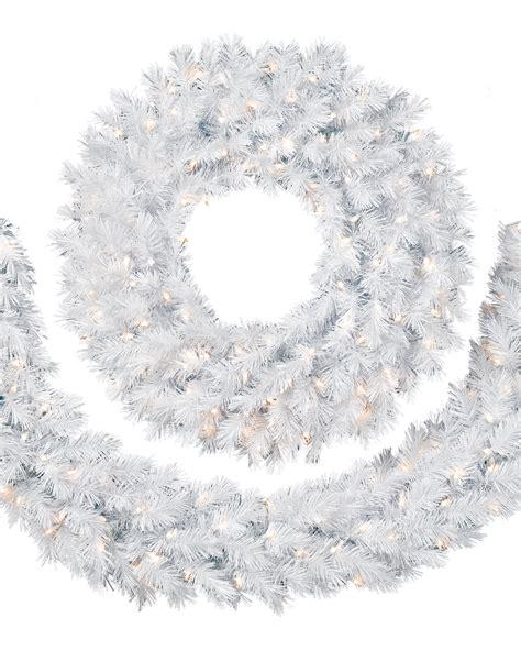 Charming Unlit Christmas Garland #8: White-christmas-garland-wreath-2.jpg