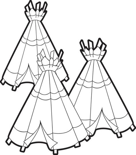 Coloring Page Of Tepee Coloring Pages Teepee Coloring Pages