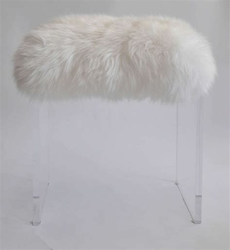 white faux fur ottoman fur stool white fur stool cover diy fur stool crafts how