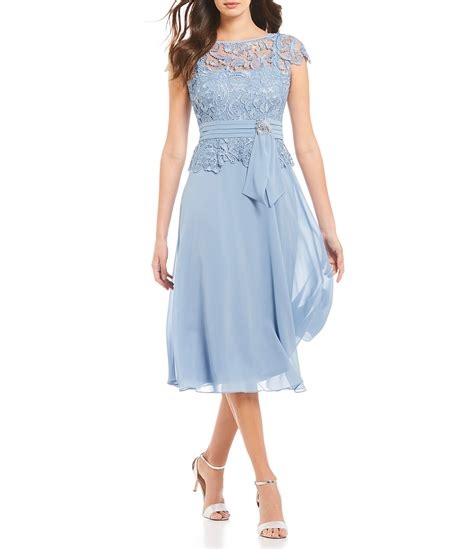 Wedding Bell Blues Year by Illusion Lace Mock 2 Dress Dillards