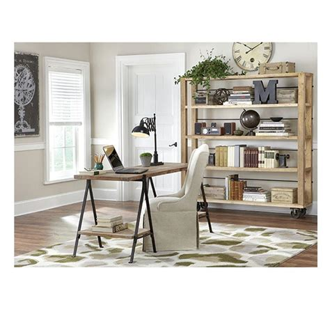 home decorators collection anjou natural open bookcase home decorators collection evans distressed natural open