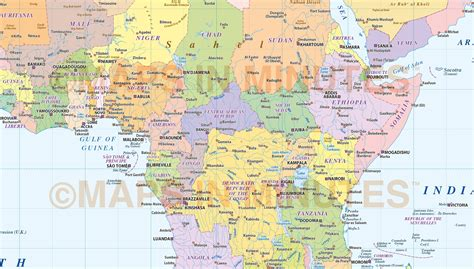 africa map pdf digital vector africa map basic political style in