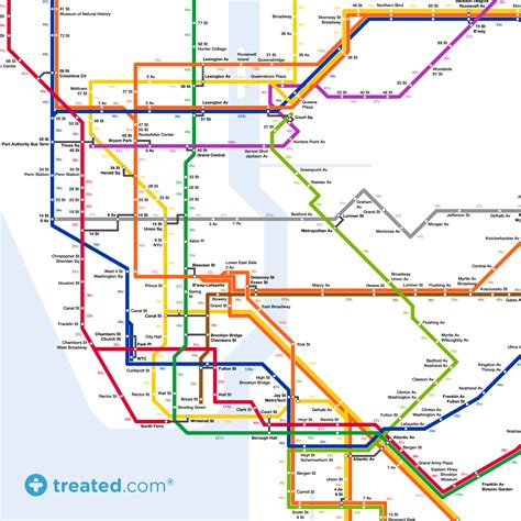 subway map in new york take the sidewalk to work our new york subway map of calories