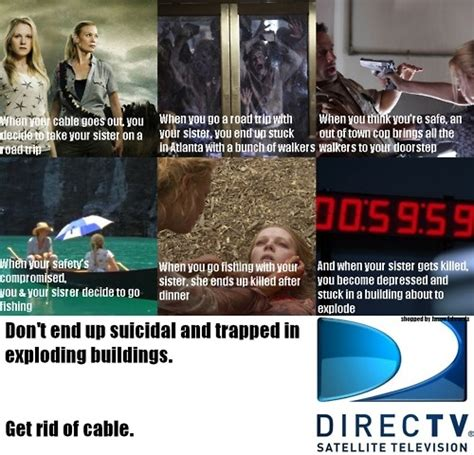 Cable Meme - the walking dead funny direct tv andrea edition worst
