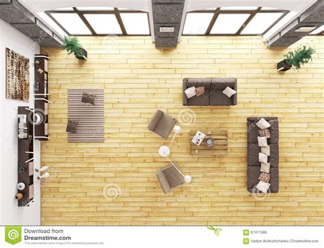 top view of living room interior 3d render stock illustration illustration of drawing