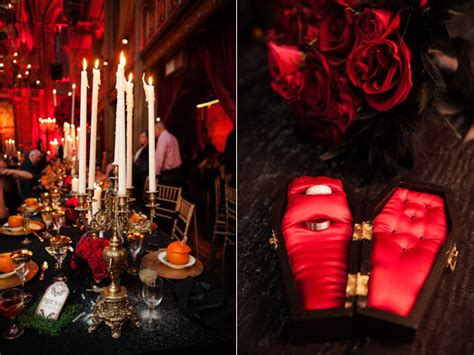 gothic themes in great expectations dracula inspired halloween wedding 183 ruffled