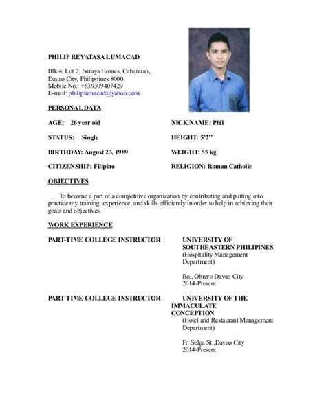 My Resume by My Resume 4