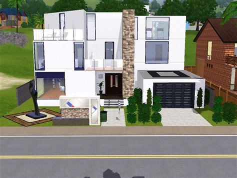 sims 3 modern house design modern sims 3 house by lavnebdesigns on deviantart
