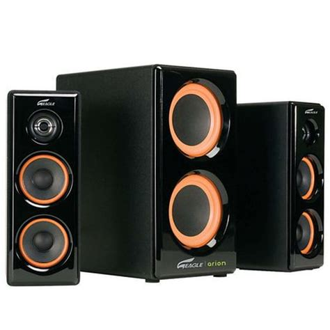 cinema 21 arion arion 2 1 soundstage speakers with dual subwoofers ar506