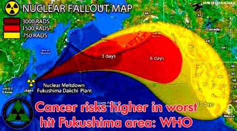 fukushima fallout usa map radioactive iodine radioactive iodine risks and benefits