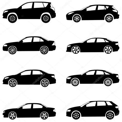 Mx Set Miuta Cat conjunto de silueta de coches vector de stock 169 julydfg