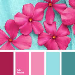 what color best goes with hot pink pink and blue color palette ideas