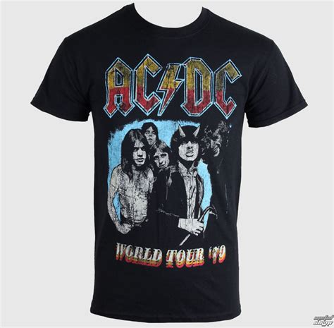 Acdc Black Tour Black Tshirt t shirt metal s ac dc world tour 79 t black live