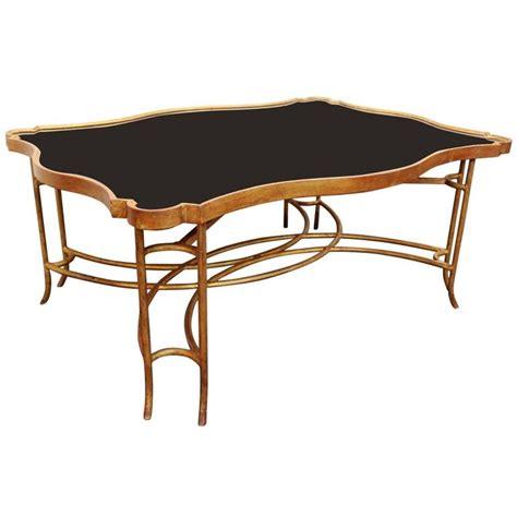 Black Iron Coffee Table Gilt Iron Coffee Table With Polished Black Granite Top At 1stdibs