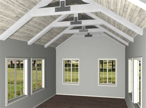 Home Designer Pro Vaulted Ceiling | truss cathedral ceiling creating exposed trusses in a
