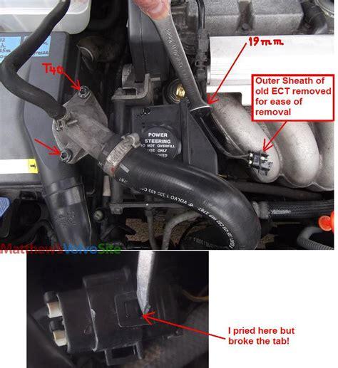 volvo s60 fan keeps running diy 1998 v70 ect engine coolant temp sensor replacement