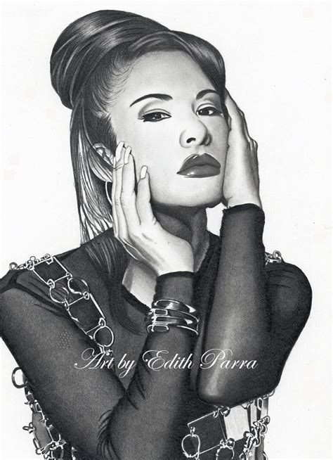 Selena Q Drawing by Selena Quintanilla Perez Edith Parra Exceptional